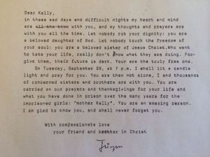Moltman letter