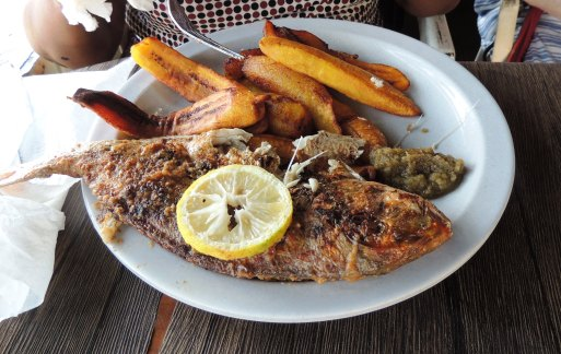 Food snapper and plantain